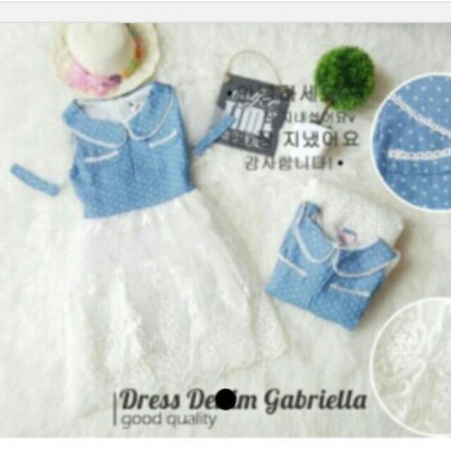 Promo Dress Import Denim Gabriella