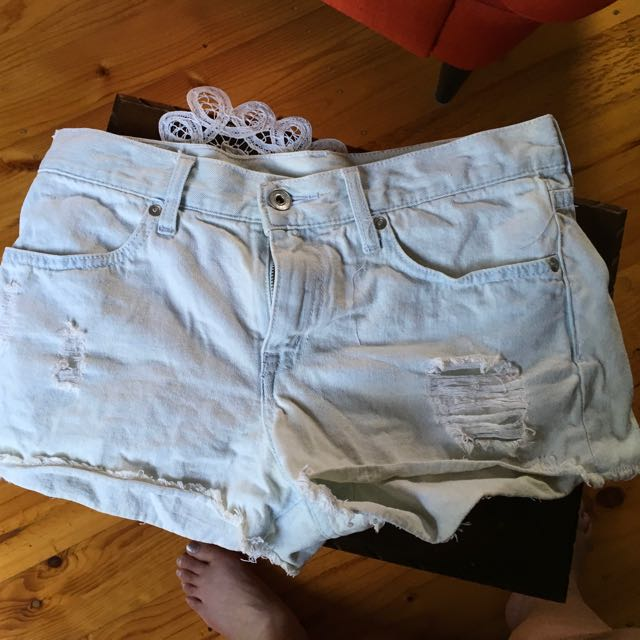Denim Short Shorts (light Wash)