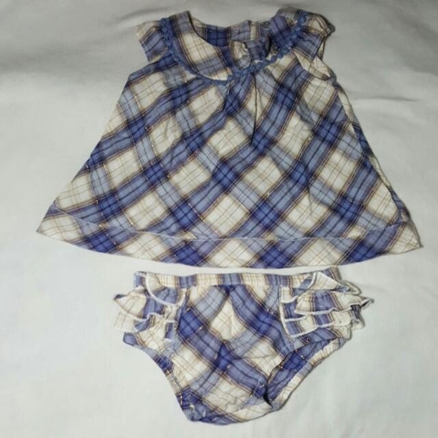 RESERVED F&F Short Dress And Bloomers (Upto 3 Months)
