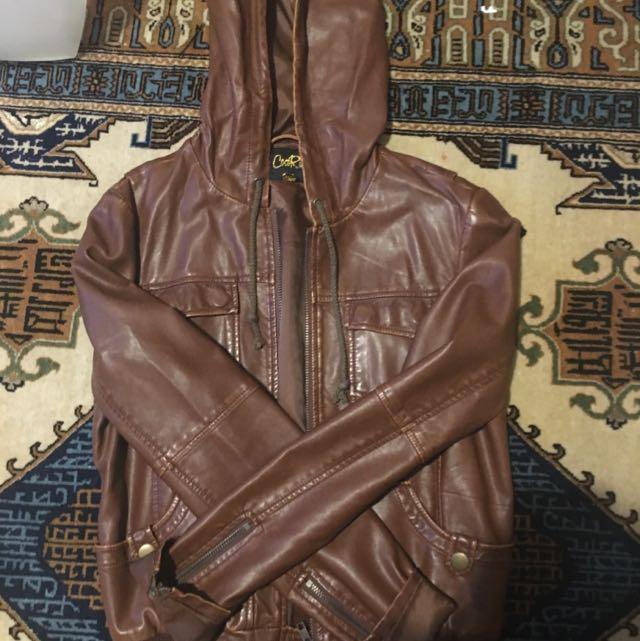 Genuine Brown Leather Jacket