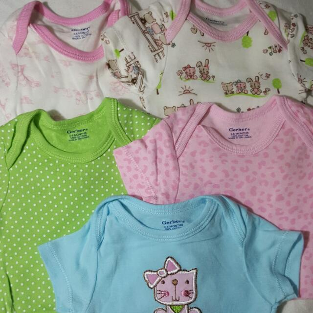 SOlD FOR DELIVERY Gerber Onesies (Set Of 5)