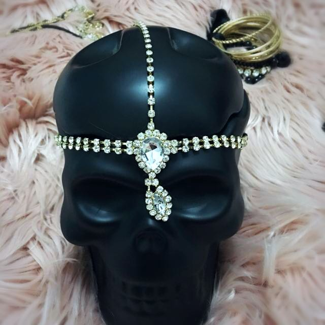 Gold Statement Hair Crown