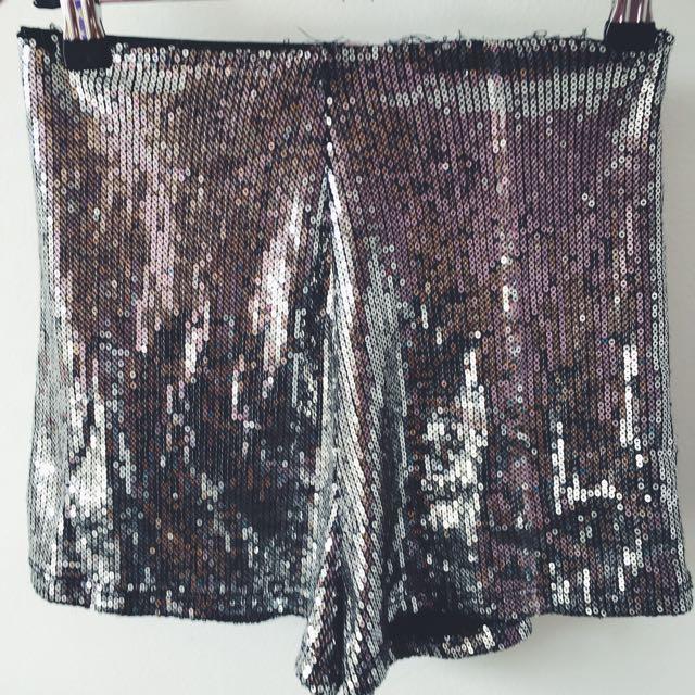 High Waisted Glitter Pants