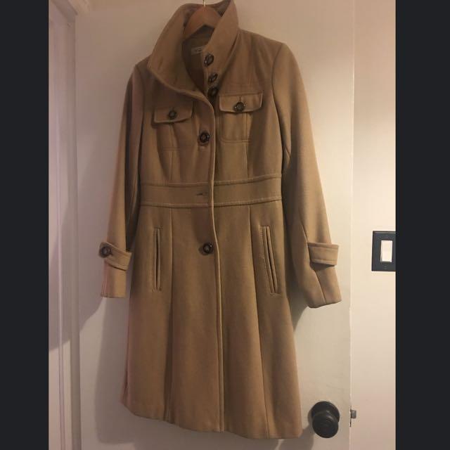 Kenneth Cole Beige Wool Winter Coat