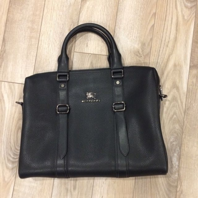 Leather Burberry Computer Bag