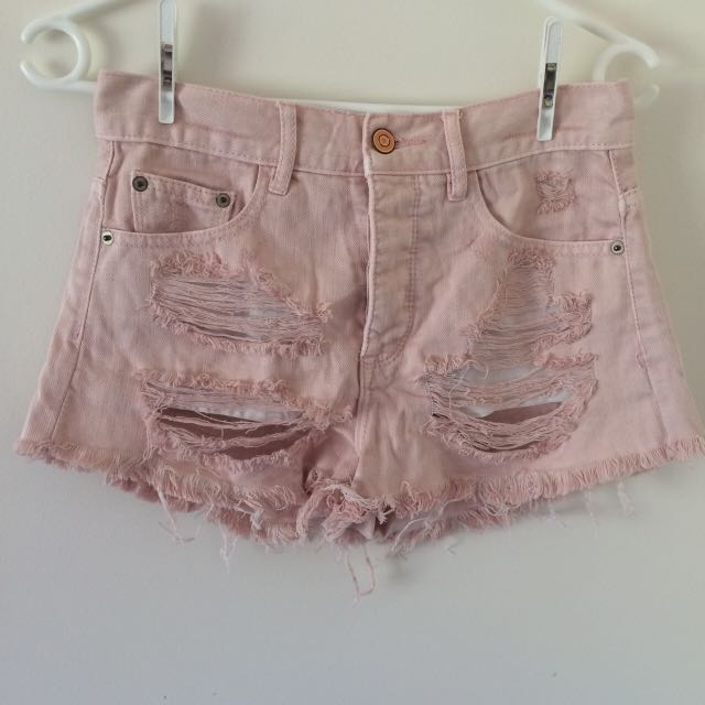 Light Pink High waisted Shorts