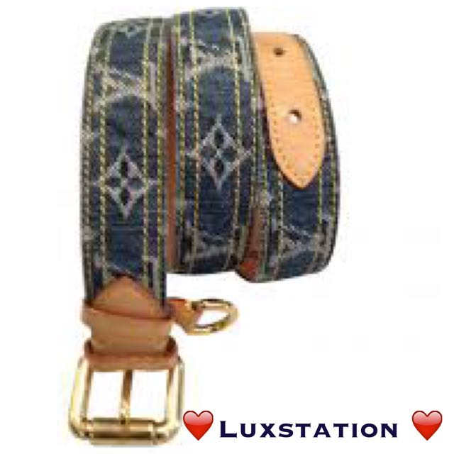 ff0b84ed3f4e ✨Louis Vuitton Limited Edition Denim Belt - 32