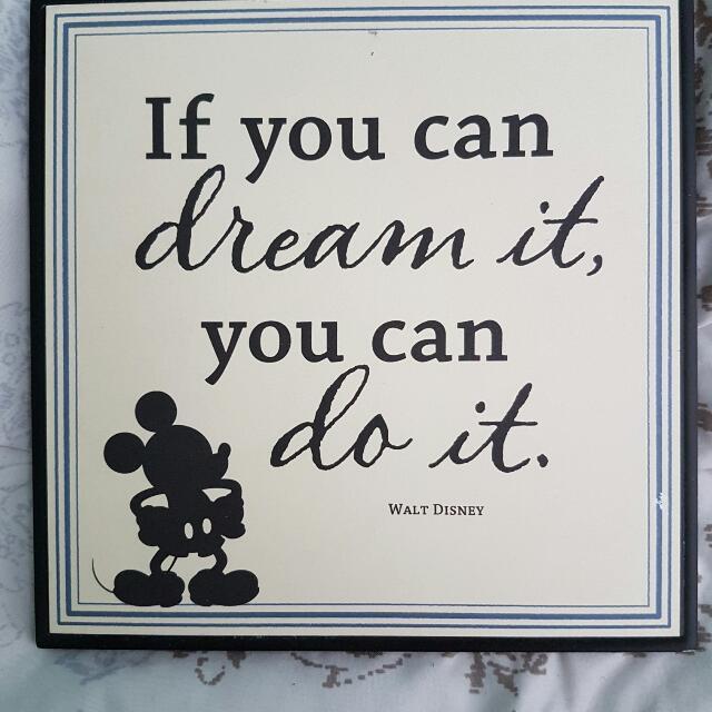 Mickey Mouse Decorative Plaque