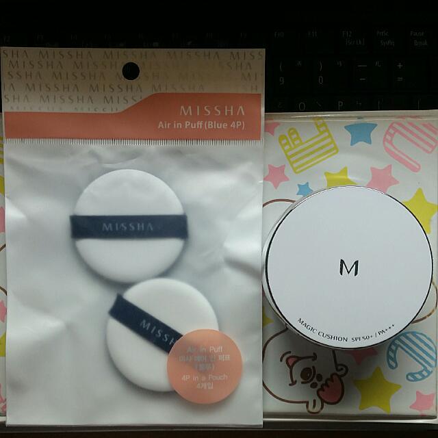 Missha  氣墊粉餅 銀盒  23號