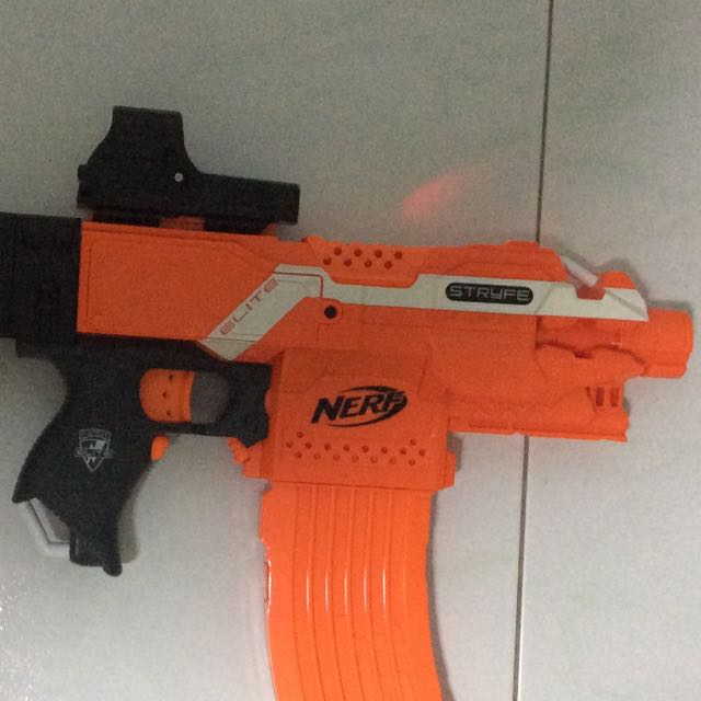 Blue Nerf N Strike Nite Finder Dart Gun Laser Sight Pistol No Darts #NERF