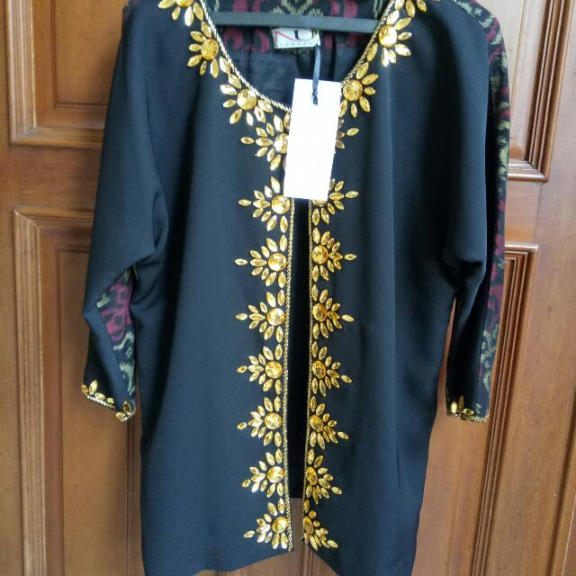 New black Everly outer Tenun NU by Nugroho size S-M (fit to M) Very elegant