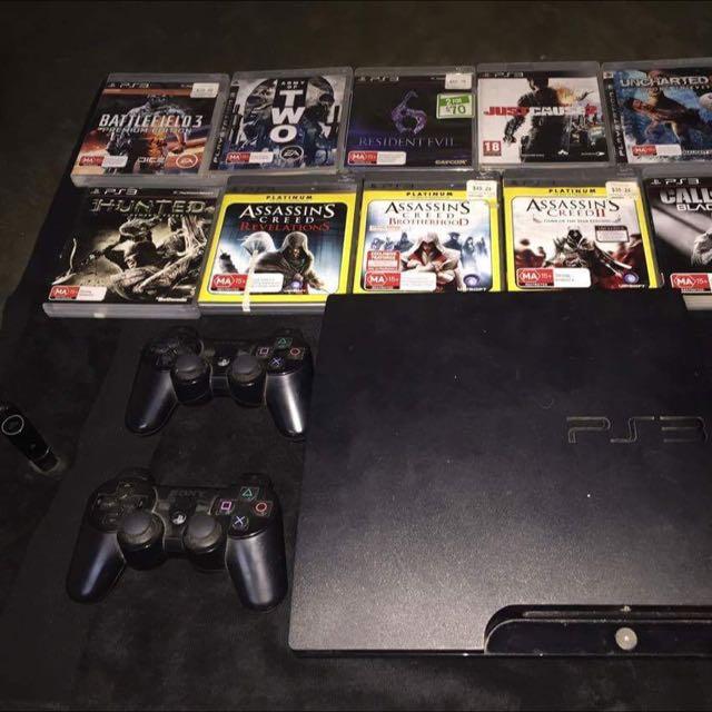 PS3 + 10 Games