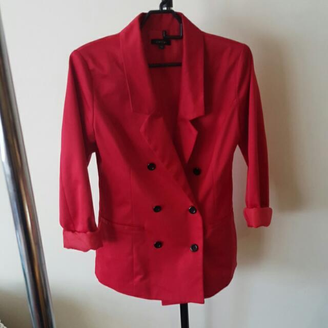 Red Blazer Size M