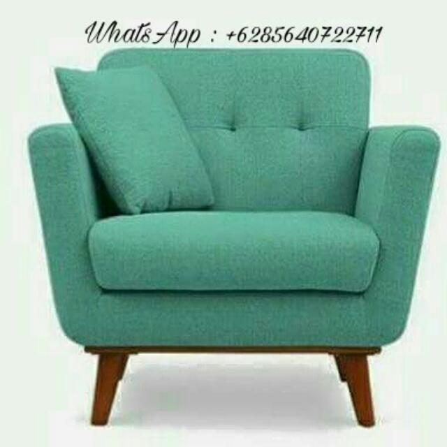 Sofa Retro Green Minimalis Home Furniture On Carousell