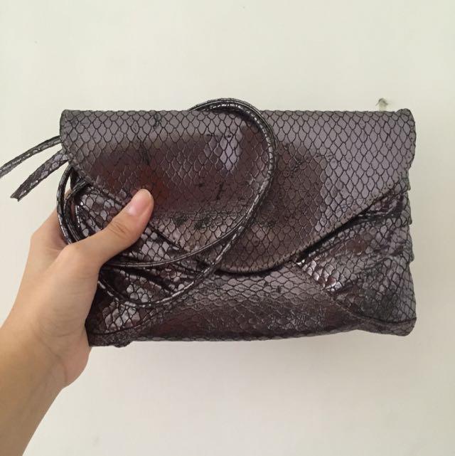 TOPSHOP Snake Skin Sling Bag