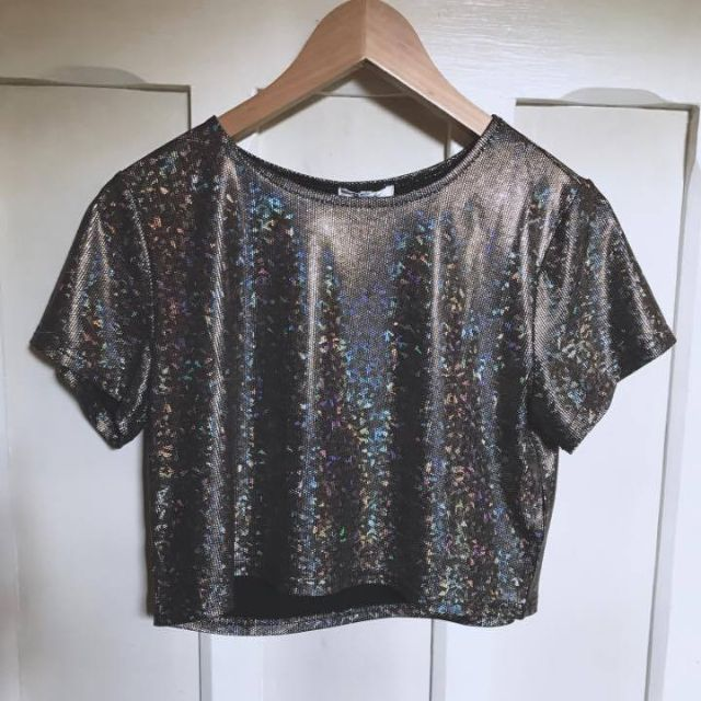 Valleygirl Holographic Crop