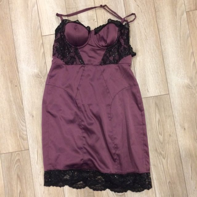 Victoria Secret Moda Purple Cocktail Dress