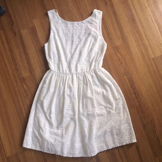 White Zara Backless Dress