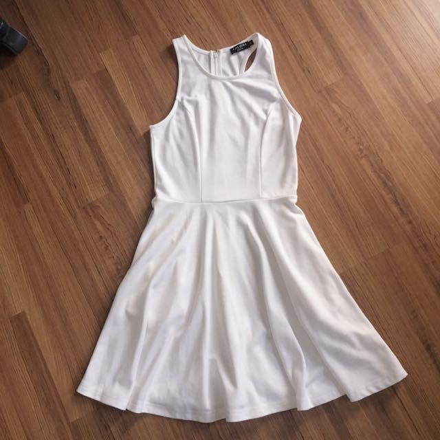 Zalora White Halter Dress W/ Pockets