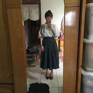 🚚 藍綠色長裙