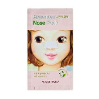 代購韓國Etude House 玩鼻親綠茶緊緻鼻膜
