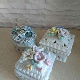 🚚 私藏手工陶瓷珠寶盒🍄飾品盒/裝飾盒/擺飾/手工捏陶🍄