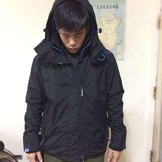 (降價殺殺殺)Super dry 極度乾燥 男生 黑色 外套L號