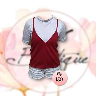 Tank Top Slip On (Red)