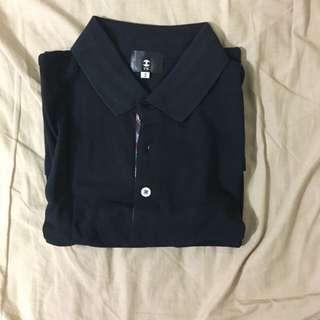 [特價:600元]TK 黑白 Polo衫(2號/偏S號)