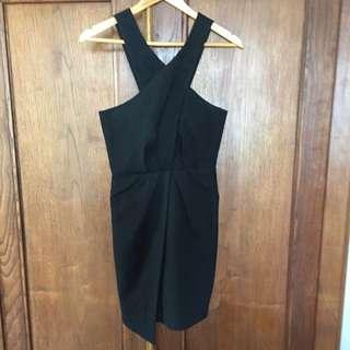 Rodeo Show Black Asymmetrical Dress