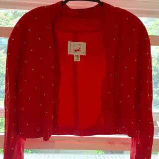 Red Jacket With Gold Studs