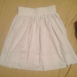 H&M High Waisted White Skirt