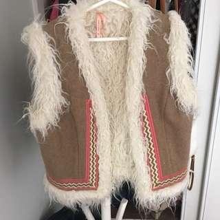 Fur Vest with Detailing