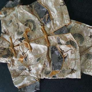 Boys CHEONGSAM (Gold/Cream) 0-4mths