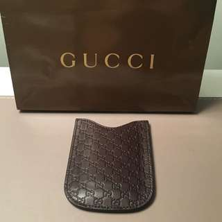 Gucci 'Micro GG' Blackberry case (can be used as card holder)