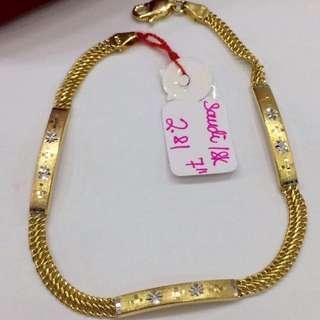Bracelet 18k Saudi Gold