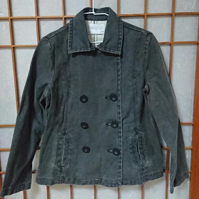 二手衣-0918黑色牛仔排扣外套