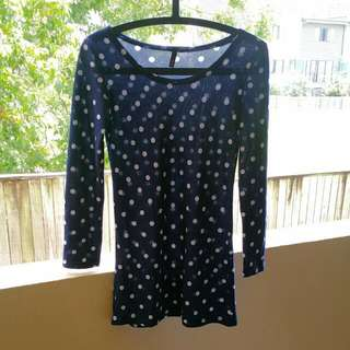 Navy Dotty Sweater