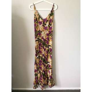 PRICE LOWERED Tree of Life Yellow Floral Maxi Dress