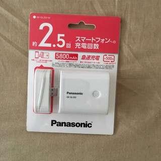 [特賣:990元]Pansonic 行動電源5800 mAh(二手.相當新)
