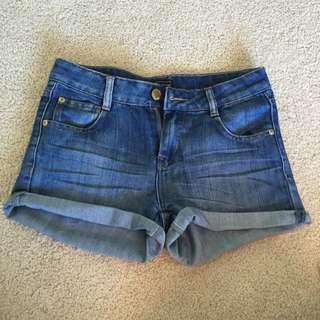 Warehouse Denim Shorts Size 10