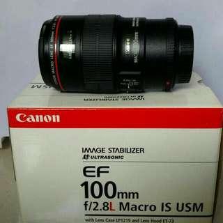 Canon 100mm f2.8 L series