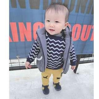 EVA EVA SHOP冬季新品-兒童男女寶寶加厚保暖搖粒絨背心外套