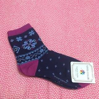 韓國 雪花❄️圖案襪子