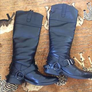 100% Leather Boots Knee High
