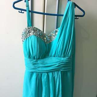 Turquoise Blue Evening Gown