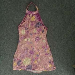 ARNHEM DELILAH DRIFTER MINI HALTER DRESS SIZE LARGE