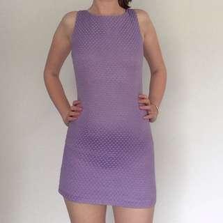Purple Vintage Short Dress