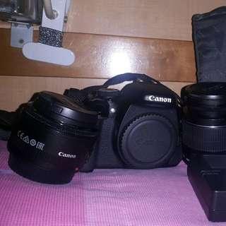 Canon 600d +lens Kit 18- 55 +50mm