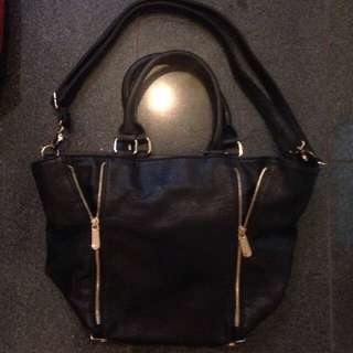 Colette Black And Gold Handbag